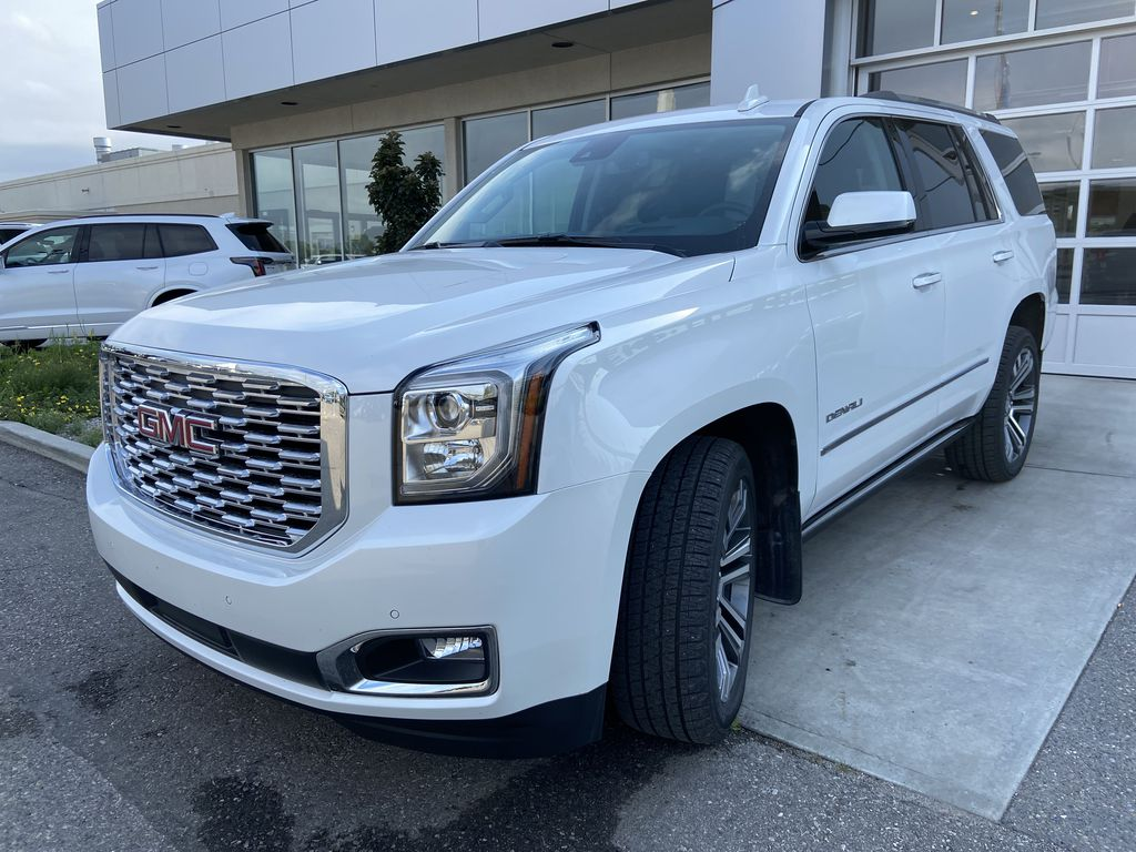 White[White Frost Tricoat] 2020 GMC Yukon Denali Left Front Head Light / Bumper and Grill in Calgary AB