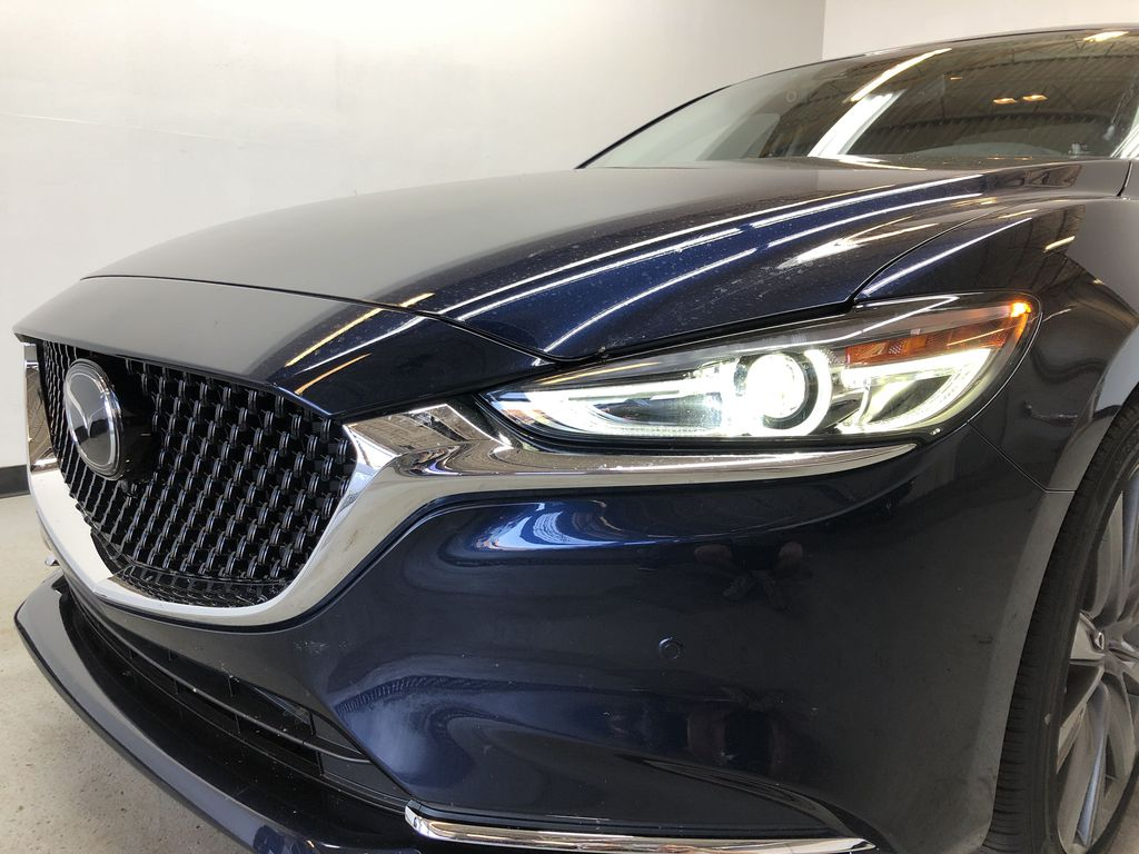 DEEP CRYSTAL BLUE MICA(42M) 2020 Mazda Mazda6 GT - Executive Demo w/ Acc. 3M, All-Weather Mats & Tint Left Front Head Light / Bumper and Grill in Edmonton AB