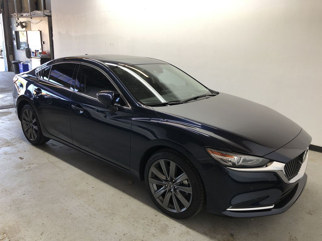 DEEP CRYSTAL BLUE MICA(42M) 2020 Mazda Mazda6 GT - Executive Demo w/ Acc. 3M, All-Weather Mats & Tint Right Front Corner Photo in Edmonton AB