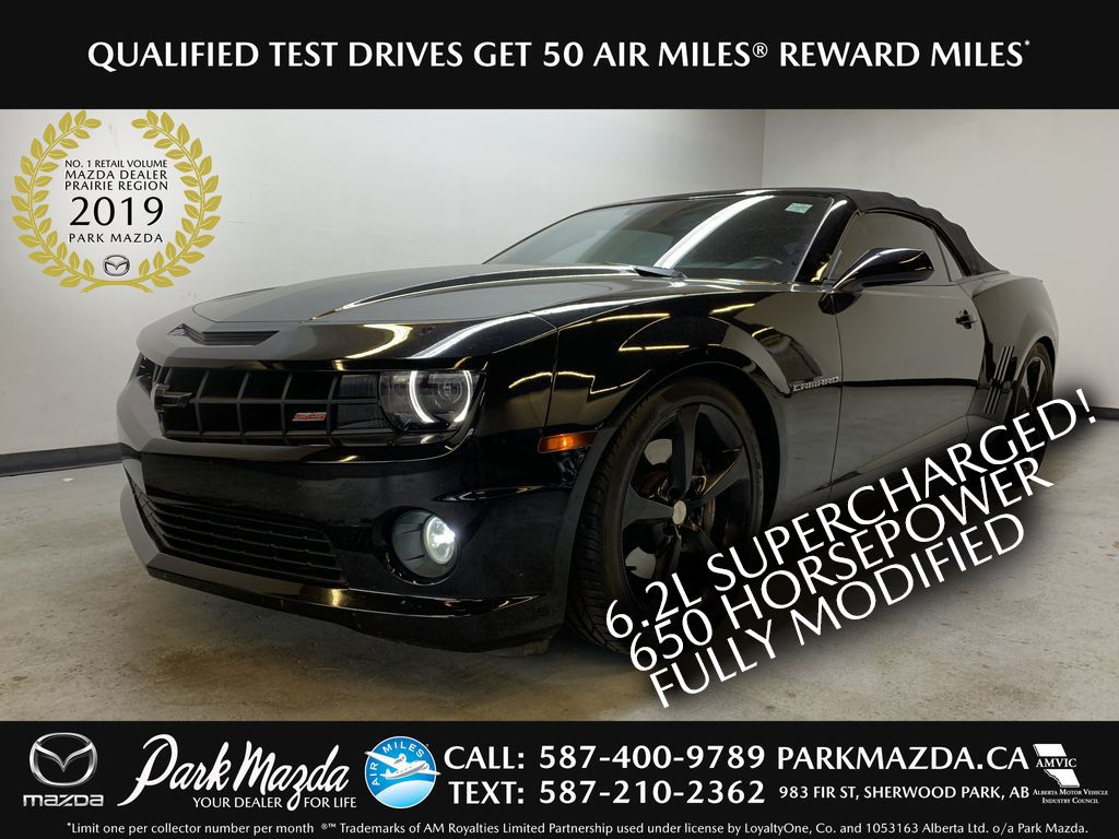 BLACK 2013 Chevrolet Camaro 2SS - Supercharged 650HP, FULLY MODIFIED