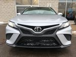 Silver[Celestial Silver Metallic] 2020 Toyota Camry SE Standard Package B11HST AM Front Vehicle Photo in Brampton ON