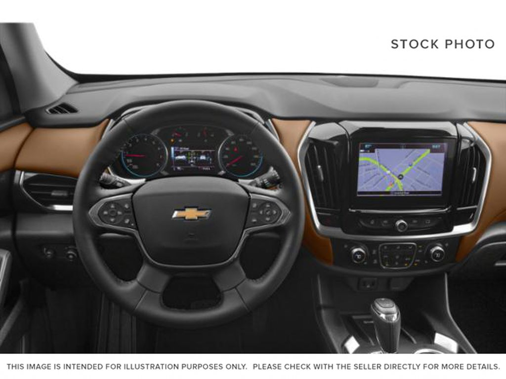 Burgundy 2018 Chevrolet Traverse Steering Wheel and Dash Photo in Fort Macleod AB