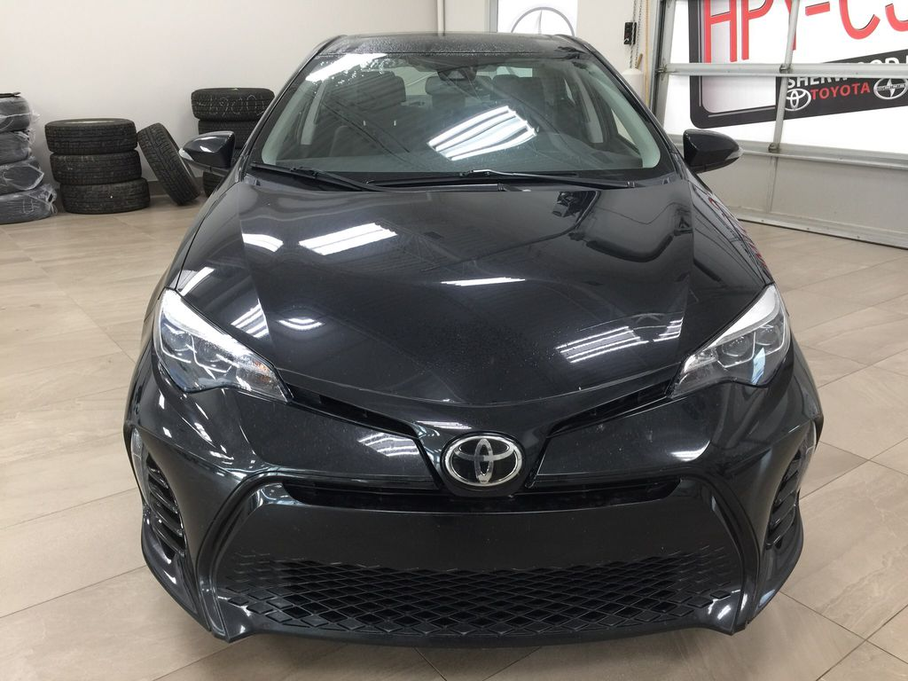 Black[Black Sand Pearl] 2017 Toyota Corolla XSE Front Vehicle Photo in Sherwood Park AB