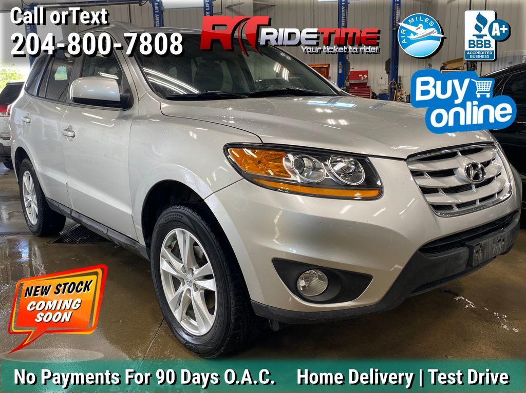 Silver[Moonstone Silver Metallic] 2011 Hyundai Santa Fe GL Premium AWD - Sunroof, Alloy Wheels