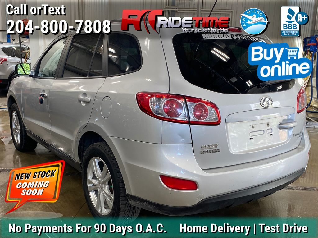 Silver[Moonstone Silver Metallic] 2011 Hyundai Santa Fe GL Premium AWD - Sunroof, Alloy Wheels Left Rear Corner Photo in Winnipeg MB