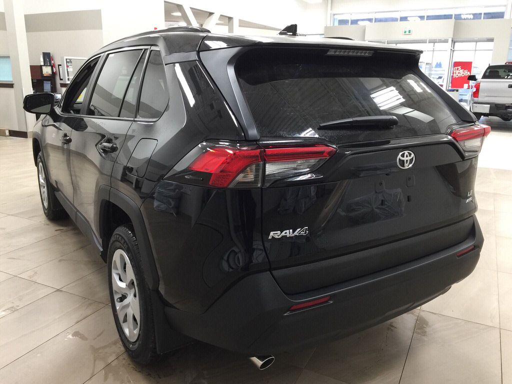 Black[Midnight Black Metallic] 2020 Toyota RAV4 LE AWD Left Rear Corner Photo in Sherwood Park AB