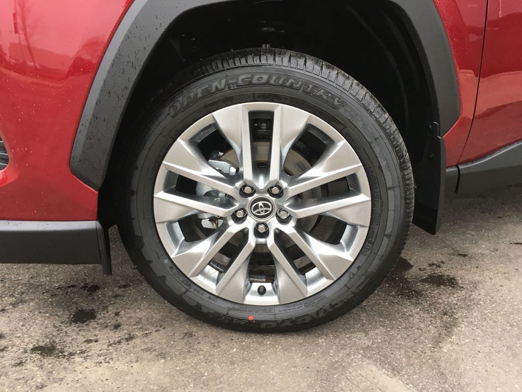 Red[Ruby Flare Pearl] 2020 Toyota RAV4 AWD XLE Premium Package R1RFVT BD Left Front Rim and Tire Photo in Brampton ON