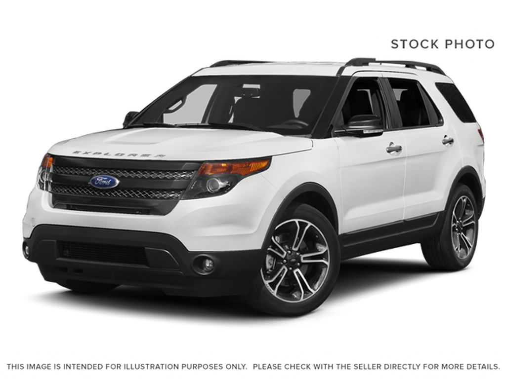White[White Platinum Metallic Tri-Coat] 2014 Ford Explorer