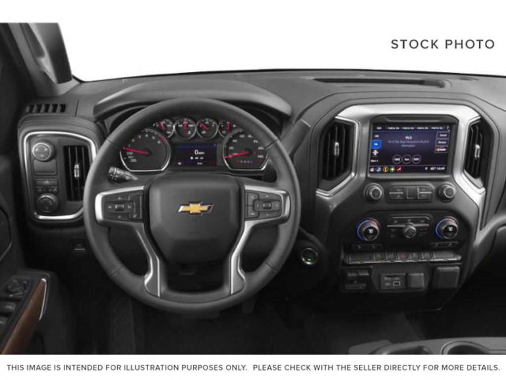 Red[Cajun Red Tintcoat] 2019 Chevrolet Silverado 1500 Steering Wheel and Dash Photo in Fort Macleod AB