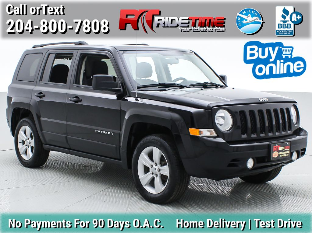 Black[Black] 2013 Jeep Patriot North 4WD - Sunroof, Automatic, Alloy Wheels