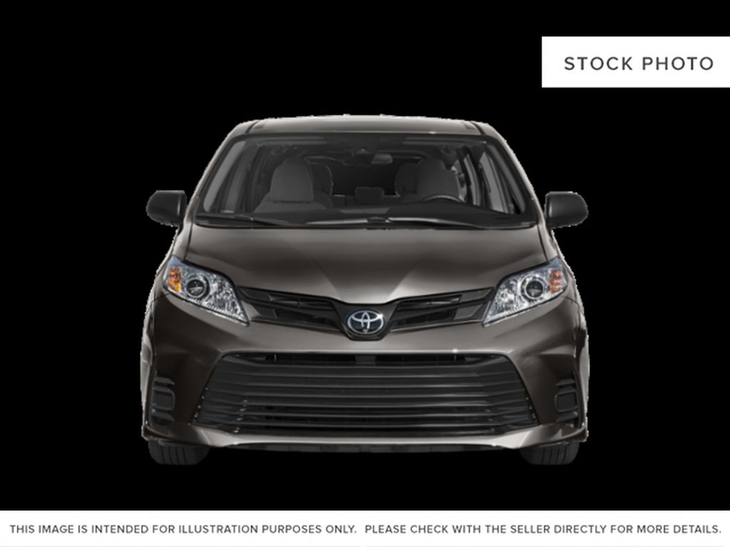 Midnight Black Metallic 2020 Toyota Sienna XLE AWD 7-Passenger V6 Limited Front Vehicle Photo in Edmonton AB