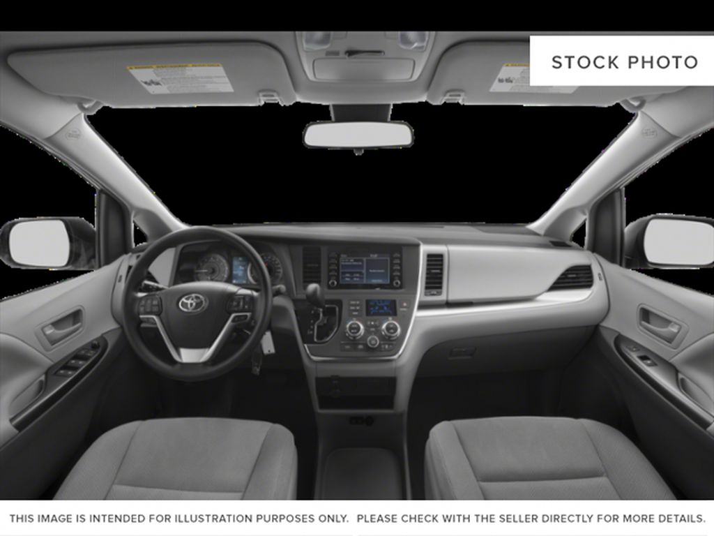 Midnight Black Metallic 2020 Toyota Sienna XLE AWD 7-Passenger V6 Limited Front Seats and Dash Photo in Edmonton AB