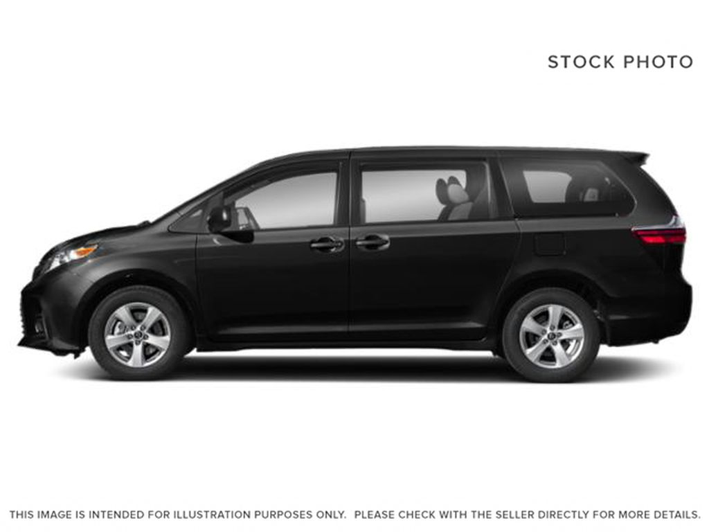 Midnight Black Metallic 2020 Toyota Sienna XLE AWD 7-Passenger V6 Limited Left Side Photo in Edmonton AB