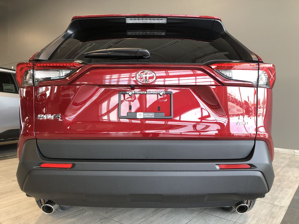 Ruby Flare Pearl 2020 Toyota RAV4 Rear of Vehicle Photo in Edmonton AB