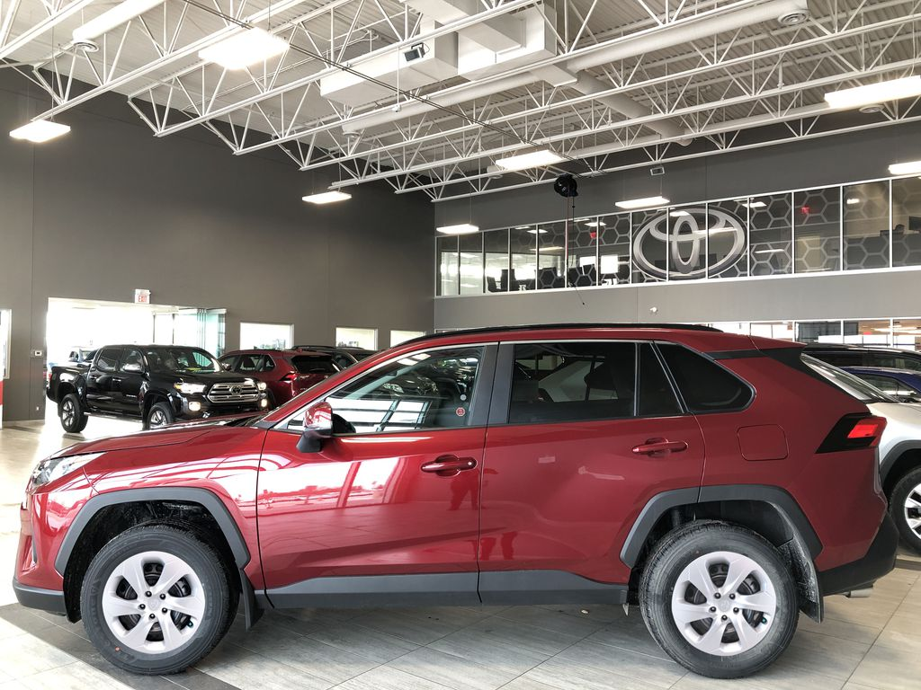 Ruby Flare Pearl 2020 Toyota RAV4 Left Side Photo in Edmonton AB