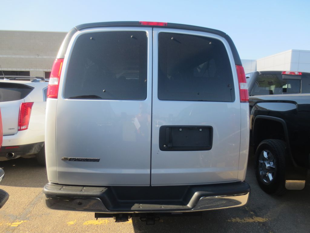 Silver 2018 Chevrolet Express Passenger Engine Compartment Photo in Lethbridge AB