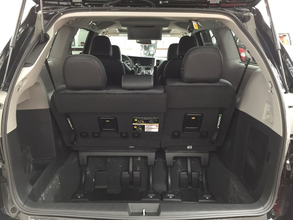 Black[Midnight Black Metallic] 2020 Toyota Sienna SE AWD Cargo Area/Rear Seats Photo in Sherwood Park AB