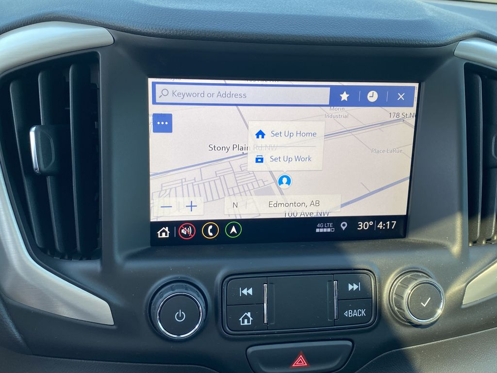 Black[Ebony Twilight Metallic] 2020 GMC Terrain Navigation Screen Closeup Photo in Edmonton AB