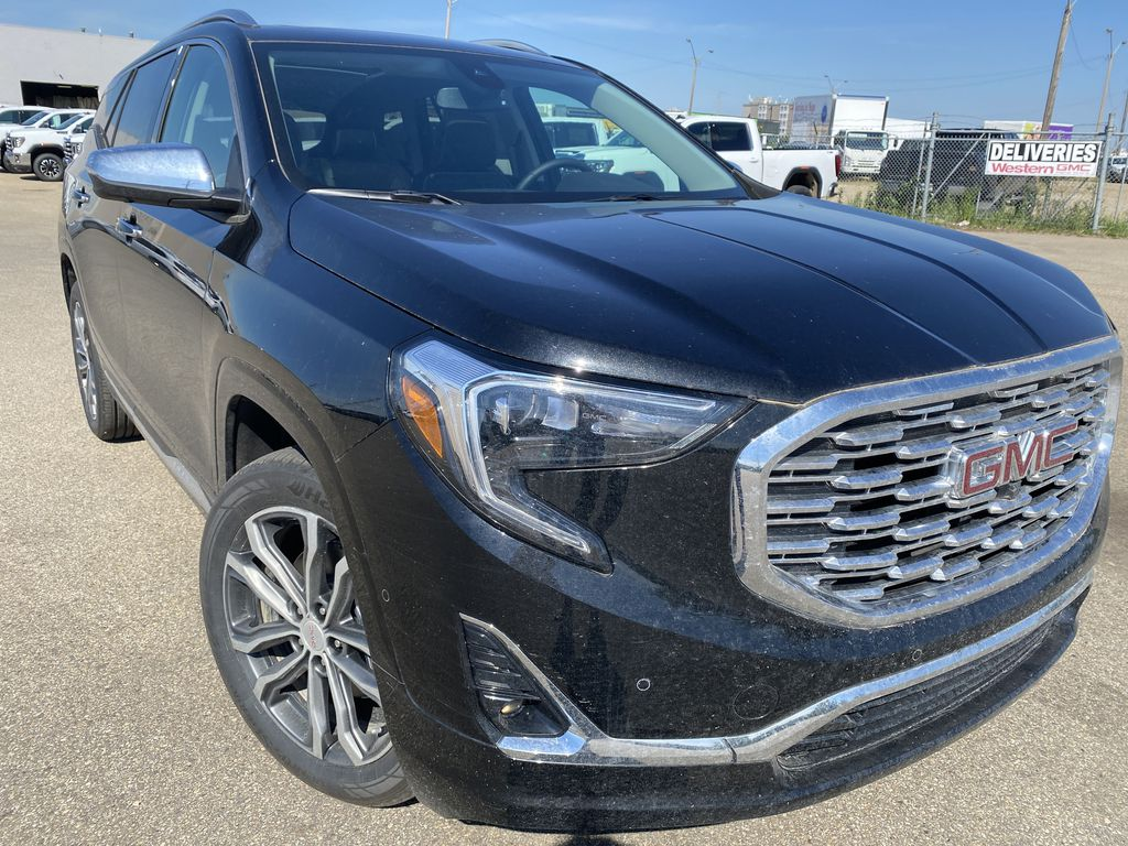 Black[Ebony Twilight Metallic] 2020 GMC Terrain Right Front Corner Photo in Edmonton AB