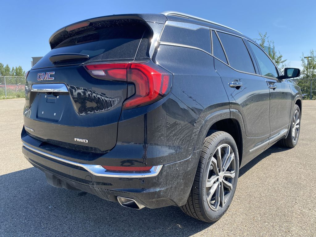 Black[Ebony Twilight Metallic] 2020 GMC Terrain Right Rear Corner Photo in Edmonton AB