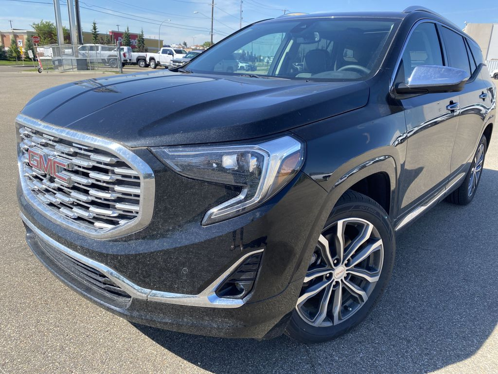Black[Ebony Twilight Metallic] 2020 GMC Terrain Left Front Corner Photo in Edmonton AB