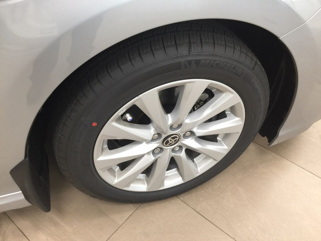 Silver[Celestial Silver Metallic] 2020 Toyota Camry SE Right Front Rim and Tire Photo in Sherwood Park AB