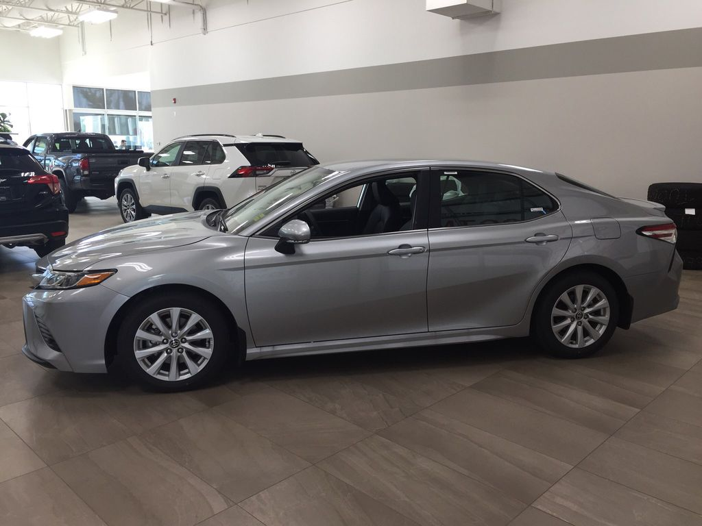 Silver[Celestial Silver Metallic] 2020 Toyota Camry SE Left Side Photo in Sherwood Park AB