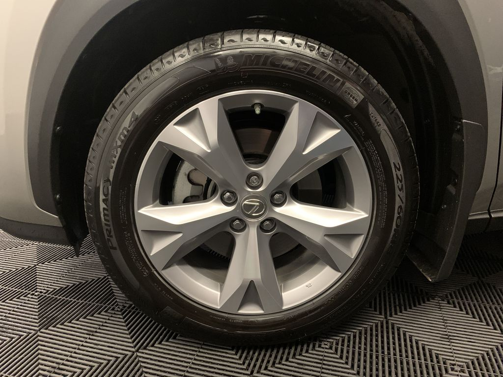 Silver[Atomic Silver] 2017 Lexus NX 200t Left Front Rim and Tire Photo in Edmonton AB