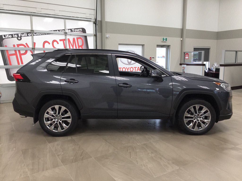 Gray[Magnetic Grey Metallic] 2020 Toyota RAV4 XLE Premium Right Side Photo in Sherwood Park AB