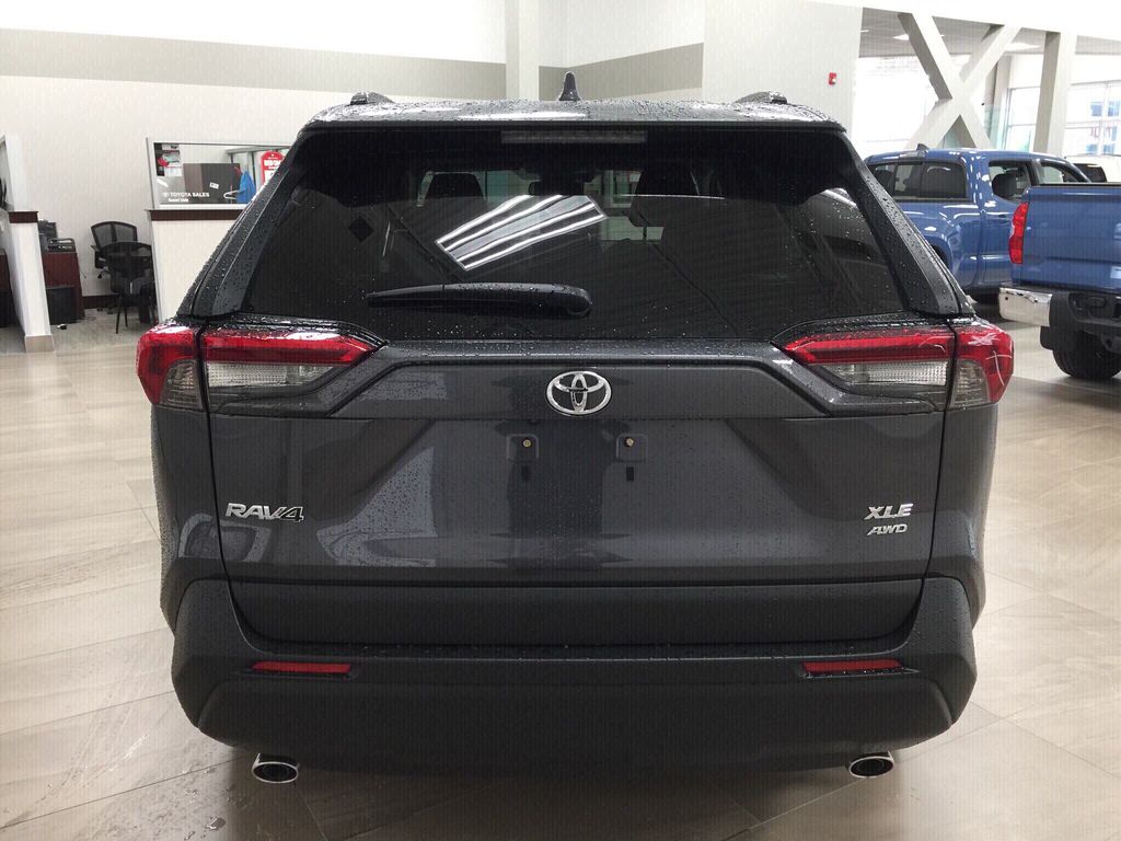 Gray[Magnetic Grey Metallic] 2020 Toyota RAV4 XLE Premium Rear of Vehicle Photo in Sherwood Park AB