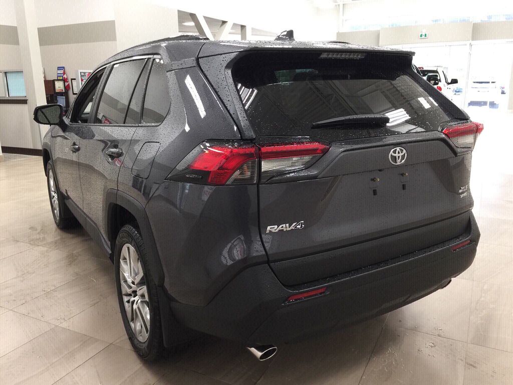 Gray[Magnetic Grey Metallic] 2020 Toyota RAV4 XLE Premium Left Rear Corner Photo in Sherwood Park AB
