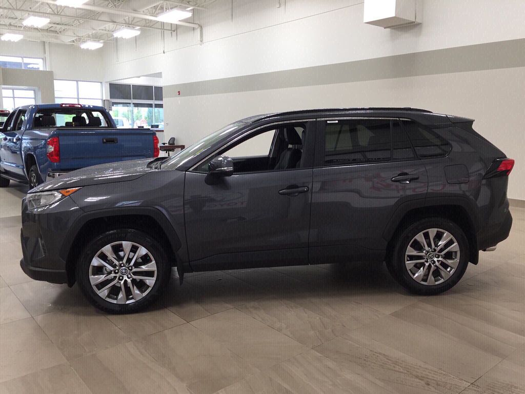 Gray[Magnetic Grey Metallic] 2020 Toyota RAV4 XLE Premium Left Side Photo in Sherwood Park AB