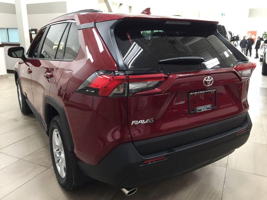 Red[Ruby Flare Pearl] 2020 Toyota RAV4 XLE FWD Left Rear Corner Photo in Sherwood Park AB