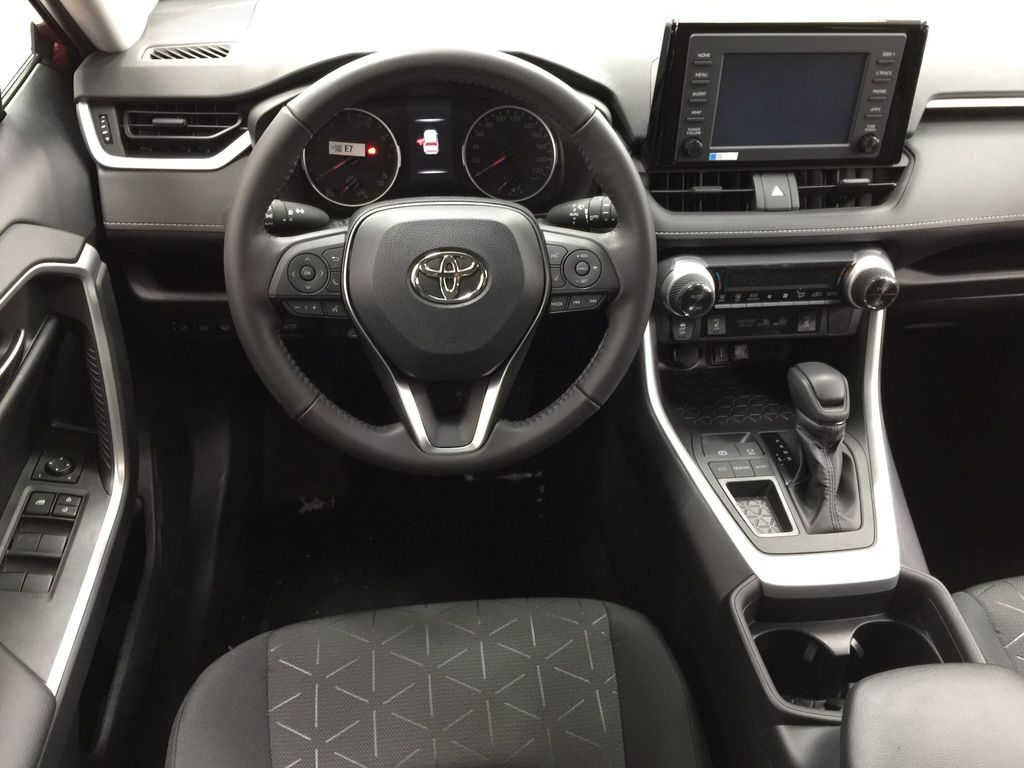 Red[Ruby Flare Pearl] 2020 Toyota RAV4 XLE FWD Left Front Seat Photo in Sherwood Park AB