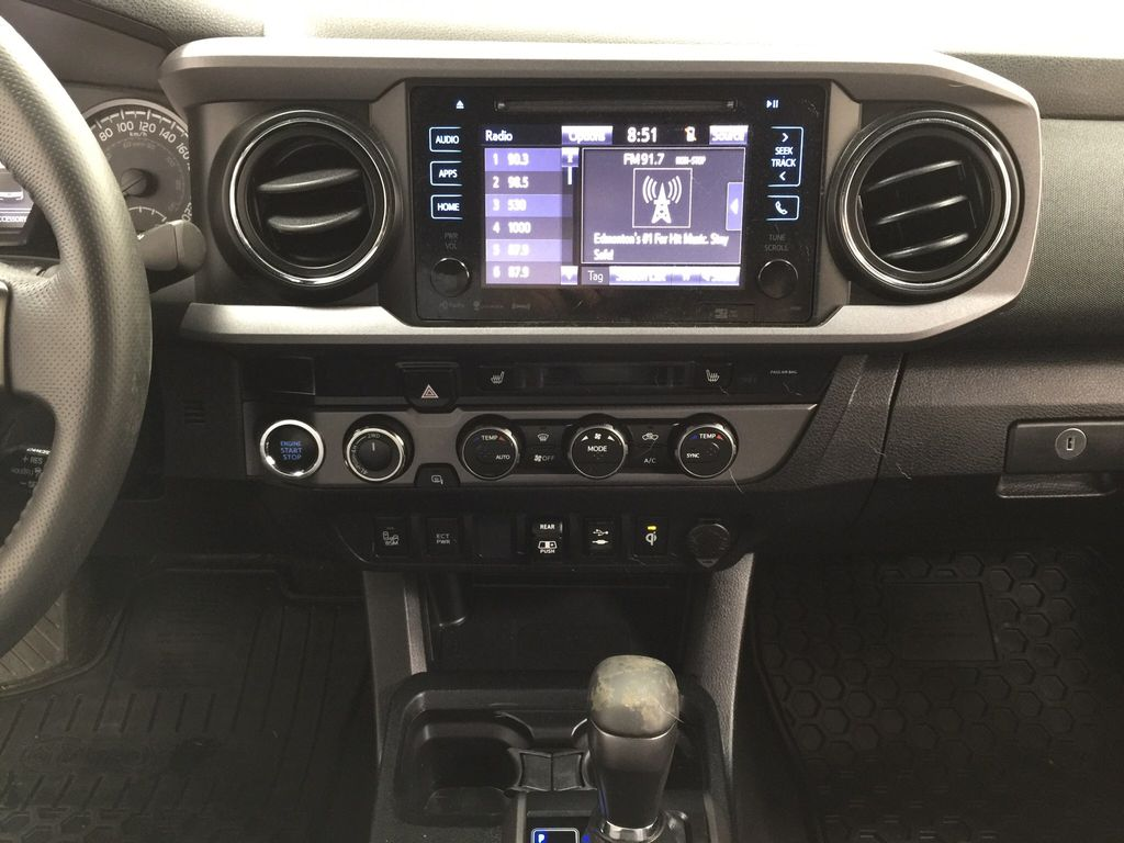 Black[Midnight Black Metallic] 2019 Toyota Tacoma TRD Sport Premium Upgrade Central Dash Options Photo in Sherwood Park AB