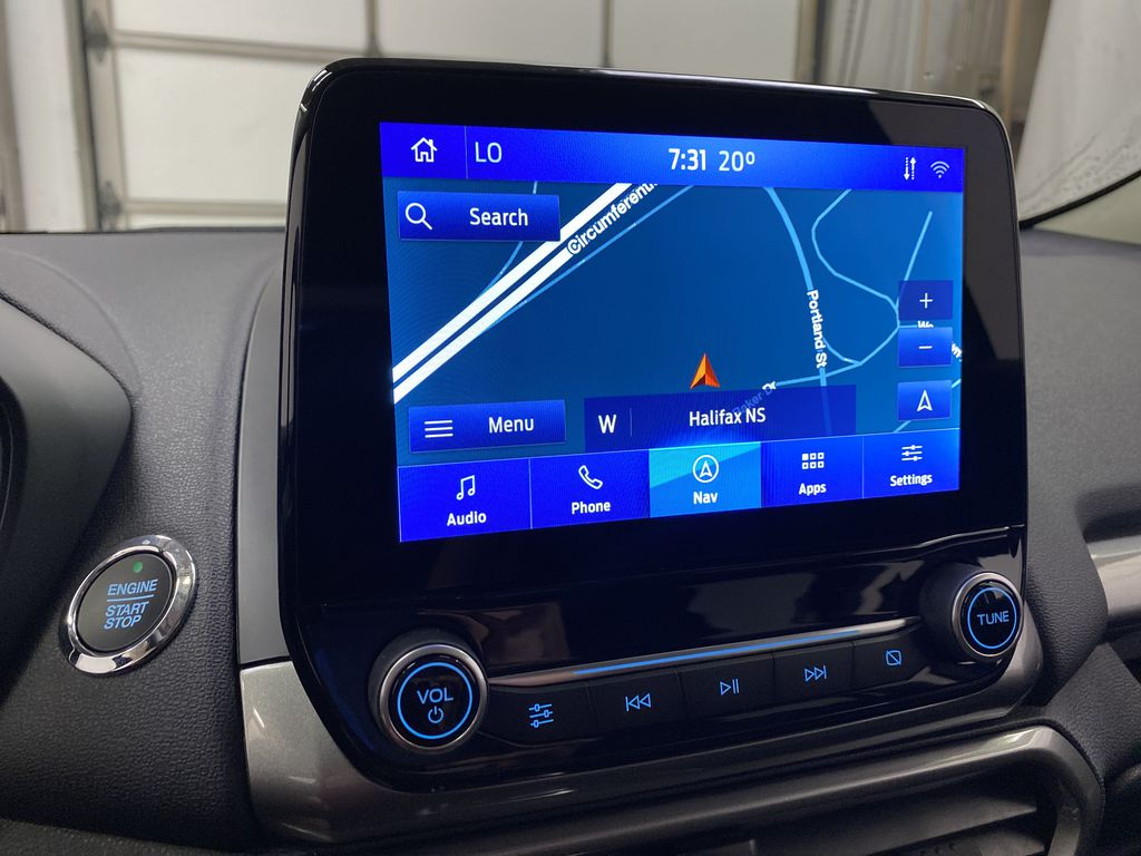 Blue[Blue Candy Metallic Tinted Clearcoat] 2020 Ford EcoSport Navigation Screen Closeup Photo in Dartmouth NS