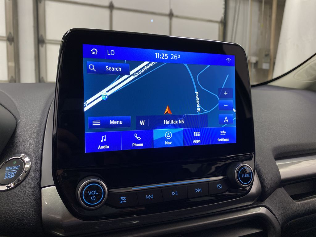 Silver[Moondust Silver Metallic] 2020 Ford EcoSport Navigation Screen Closeup Photo in Dartmouth NS