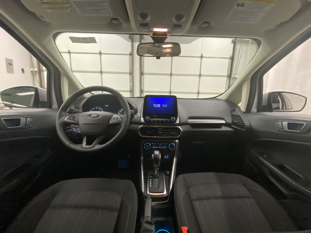 Silver[Moondust Silver Metallic] 2020 Ford EcoSport Strng Wheel/Dash Photo: Frm Rear in Dartmouth NS