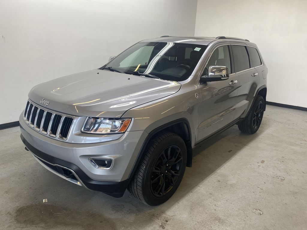 SILVER 2014 Jeep Grand Cherokee Limited - Summer/Winter Tires, Remote Start, Heated Leather Left Front Corner Photo in Edmonton AB