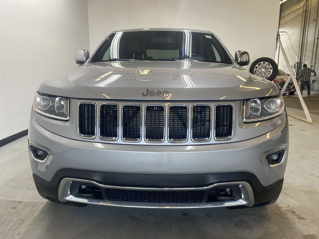SILVER 2014 Jeep Grand Cherokee Limited - Summer/Winter Tires, Remote Start, Heated Leather Front Vehicle Photo in Edmonton AB
