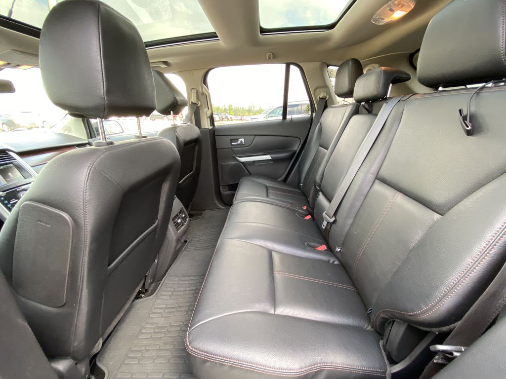 Gray[Mineral Grey] 2014 Ford Edge SEL Left Side Rear Seat  Photo in Calgary AB