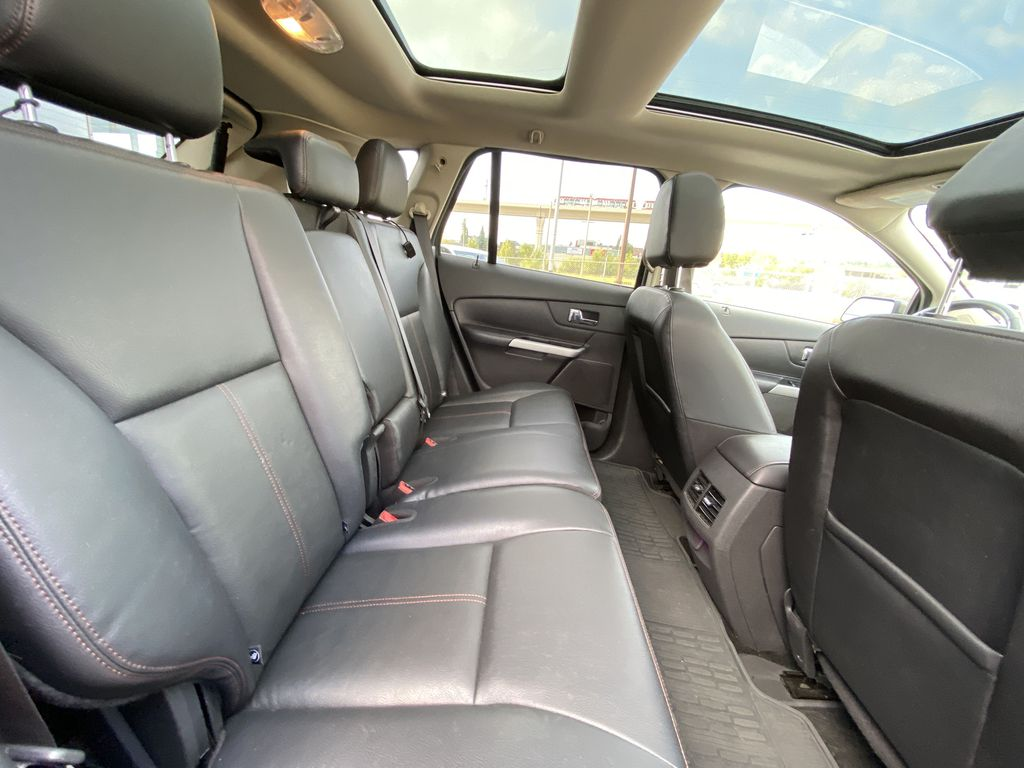 Gray[Mineral Grey] 2014 Ford Edge SEL Right Side Rear Seat  Photo in Calgary AB