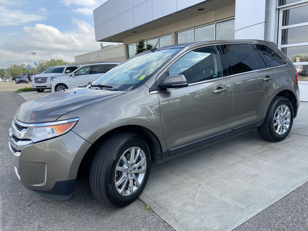 Gray[Mineral Grey] 2014 Ford Edge SEL Left Front Corner Photo in Calgary AB