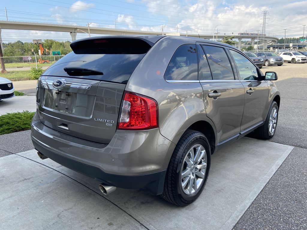 Gray[Mineral Grey] 2014 Ford Edge SEL Right Rear Corner Photo in Calgary AB