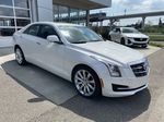 White[Crystal White Tricoat] 2017 Cadillac ATS Sedan Luxury Right Front Corner Photo in Calgary AB