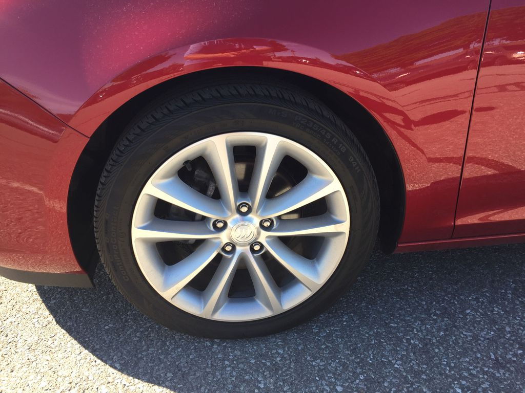 Red 2017 Buick Verano Left Front Rim and Tire Photo in Oshawa ON