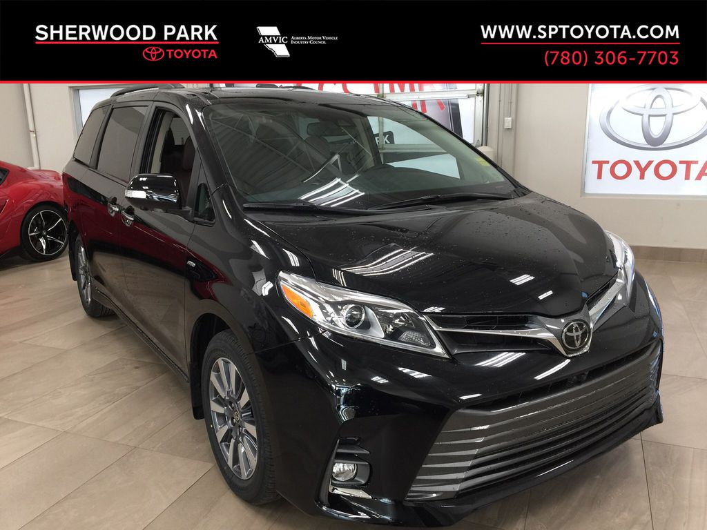 Black[Midnight Black Metallic] 2020 Toyota Sienna Limited AWD