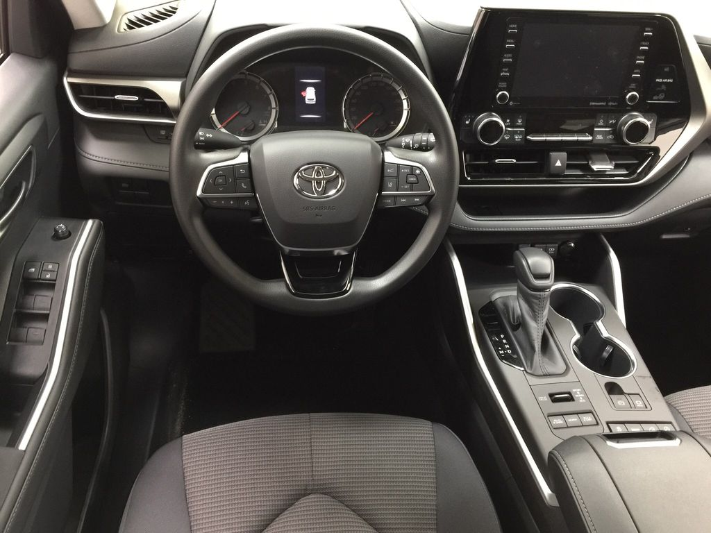 Silver[Celestial Silver Metallic] 2020 Toyota Highlander LE AWD Left Front Seat Photo in Sherwood Park AB
