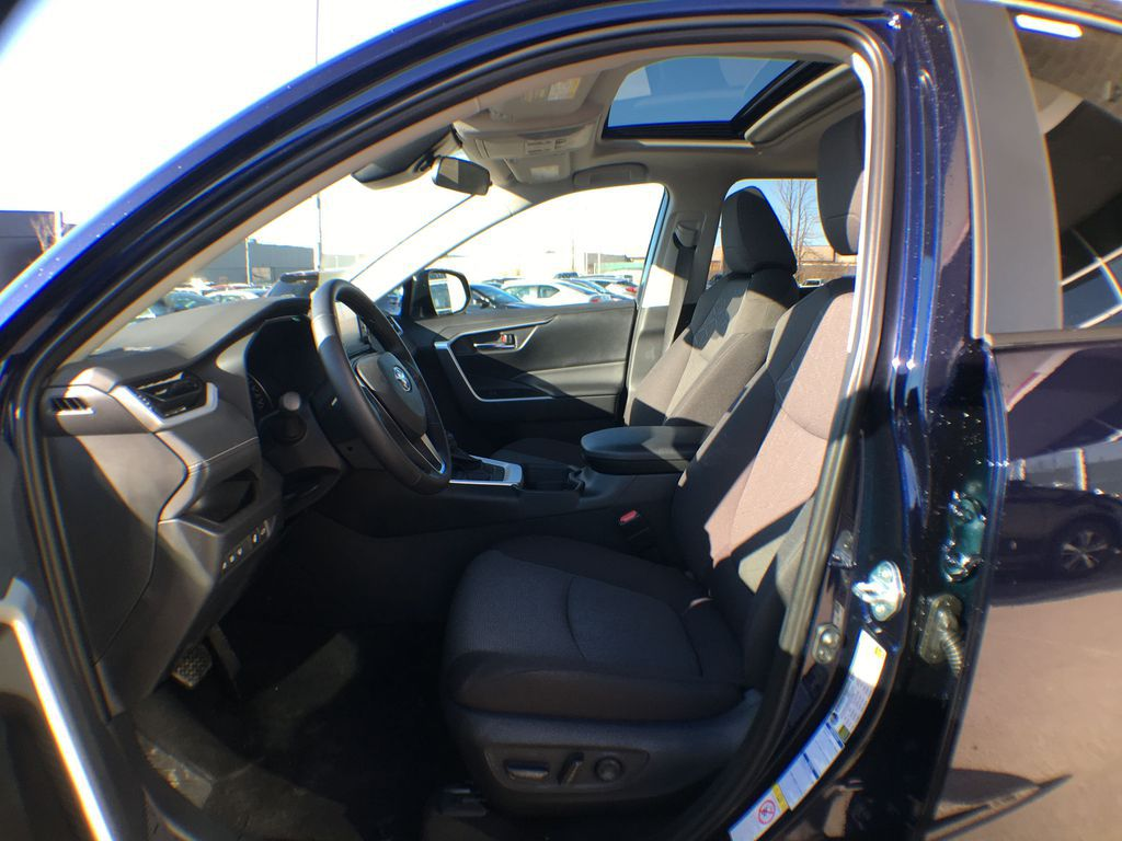 Blue[Blueprint] 2020 Toyota RAV4 AWD XLE Standard Package R1RFVT AM Left Front Interior Photo in Brampton ON