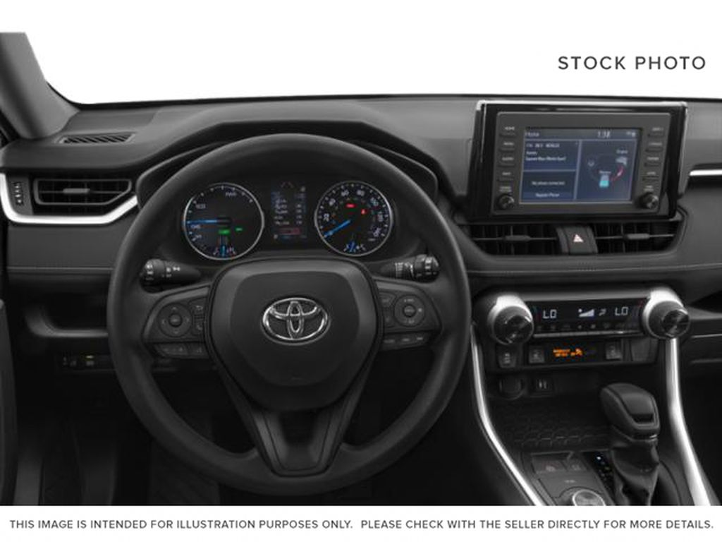 Red[Ruby Flare Pearl] 2020 Toyota RAV4 XLE Steering Wheel and Dash Photo in Kelowna BC